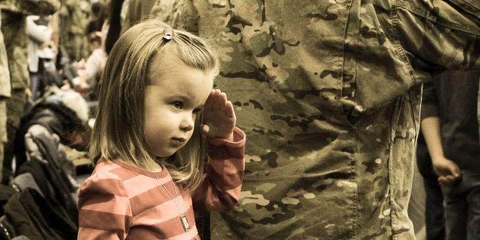 Little girls- miiltary